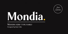 Mondia modern serif font