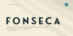 Fonseca Art Deco Fonts
