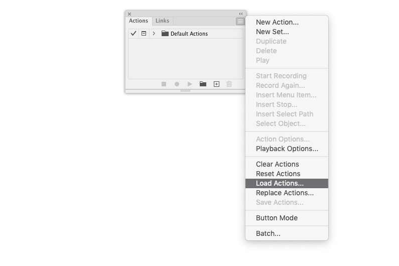 Load Actions in Adobe Illustrator
