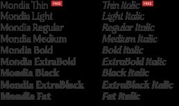 Mondia Modern Serif Font Family