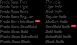Proda Sans Font Family