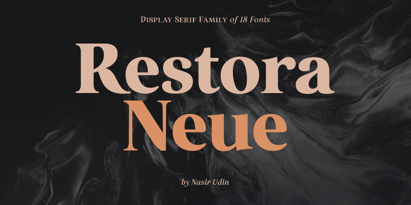 Display Serif Fonts Restora Neue