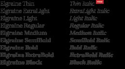 Elgraine free serif font