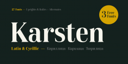 Karsten Serif Free Fonts