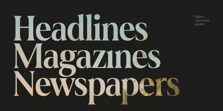 Big headline font