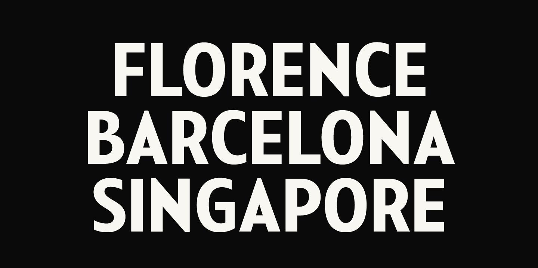 City Travel Poster Typography