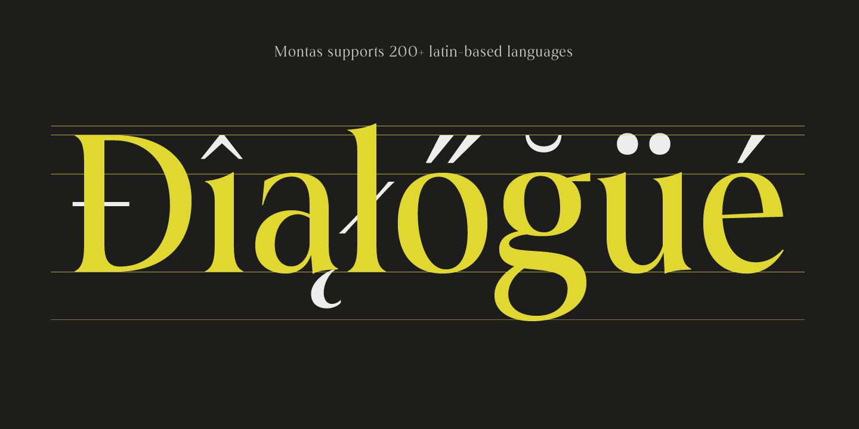 Montas multilingual font