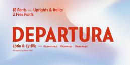 Departura Sans Serif Font Free