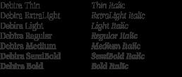 Debira Serif Font Family