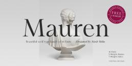 Mauren free display serif font